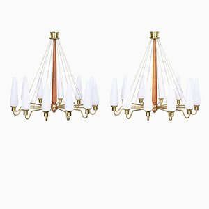 Mid-Century Swedish Church Chandeliers, Set of 2