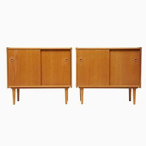 Kleine dänische Sideboards aus Teak, 1960er, 2er Set