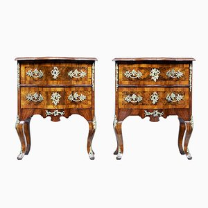 Small 19th-Century Walnut Commodes, Set of 2
