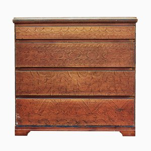 19th-Century Swedish Painted Chest of Drawers