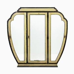 Lackierter chinesischer Art Deco Kleiderschrank aus Holz mit 3 Türen, 1920er