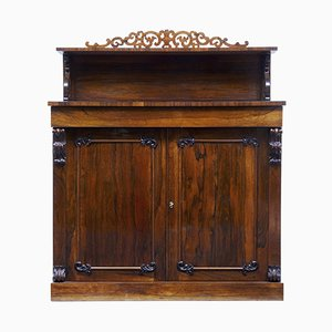 Antique Regency Rosewood Chiffonier Cabinet