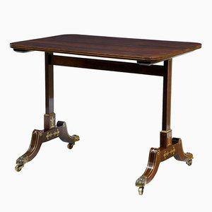 Tavolino Regency antico in palissandro intarsiato