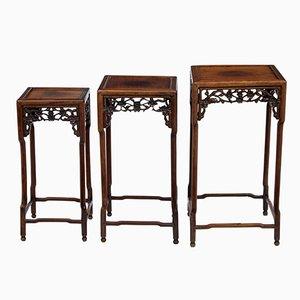 Tavolini ad incastro in legno, Cina, XIX secolo