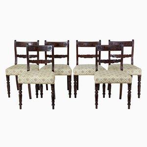 Sedie da pranzo in stile Regency in mogano, XIX secolo, set di 6