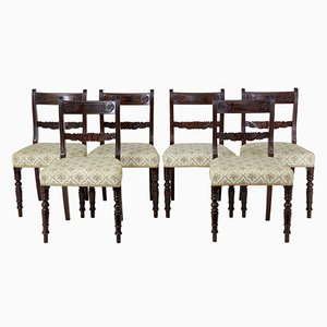 19th-Century Regency Style Mahogany Dining Chairs, Set of 6