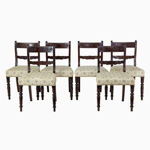 Esszimmerstühle aus Mahagoni im Regency Stil, 19. Jh,, 6er Set