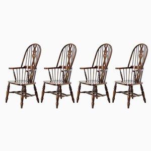 Windsor Stühle aus Eiche & Ulmenholz von Beven & Funell, 1970er, 4er Set