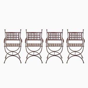 Gartenstühle aus Schmiedeeisen, 1920er, 4er Set
