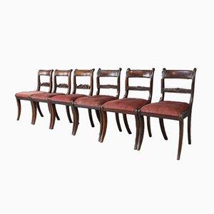 Chaises de Salle à Manger Antiques, Set de 6