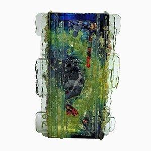Lámpara de pared vintage de vidrio de Willem van Oyen para Raak, años 60