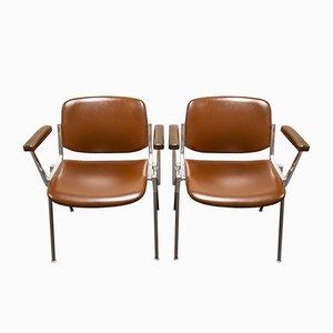 Sillas DSC 106 vintage de Giancarlo Piretti para Castelli, años 60. Juego de 2
