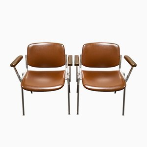 Vintage DSC 106 Chairs by Giancarlo Piretti for Castelli, 1960s, Set of 2