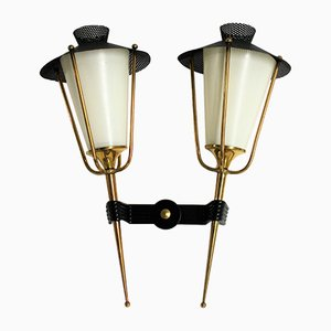 Vintage Double Wall Sconce from Arlus, 1950s