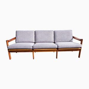 Canapé en Teck par Illum Wikkelsø pour Niels Eilersen, Danemark, 1960s