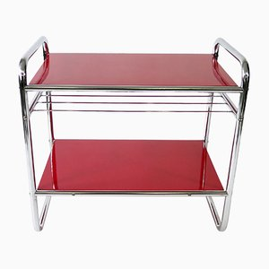 Vintage Tubular Steel Side Table