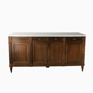 French Marble Top Buffet, 1950s