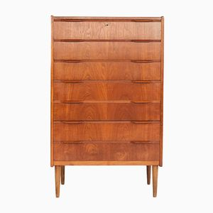 Danish Teak Chest of 7 Drawers, 1960s