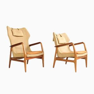 Vintage Easy Chairs by Aksel Bender Madsen for Bovenkamp, 1960s, Set of 2