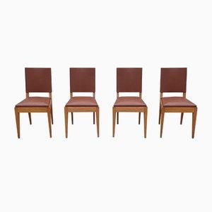 Vintage Stühle aus Buche, 1940er, 4er Set