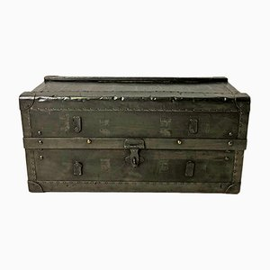 Vintage Trunk in Wood & Metal, 1950s
