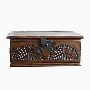17th Century Antique English Dark Oak Bible Box