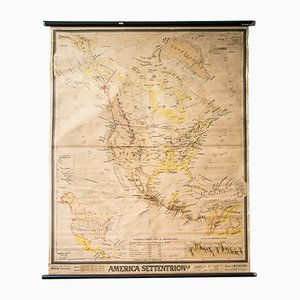 Mid-Century French Geographical America Map