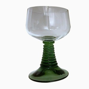 Green Wine Glasses from Schott Zwiezel, 1970s, Set of 6