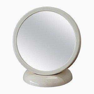 Specchio da tavolo vintage in fibra di vetro bianca di Filippo Panseca, anni '60