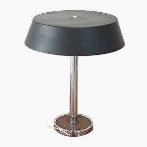 Lámpara de mesa vintage de metal cromado, años 60
