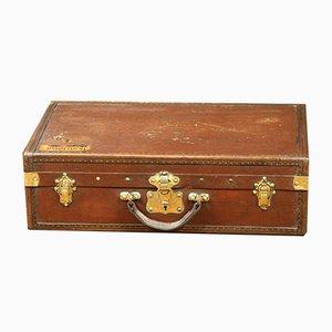 Vintage Koffer aus Leinen & Leder, 1920er