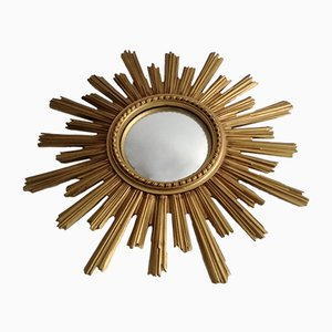 Goldener Spiegel in Sonnen-Optik, 1960er