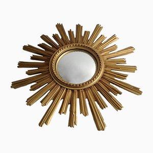 Specchio dorato a forma di sole, anni '60