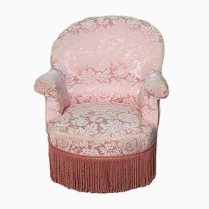 Vintage Beech & Fabric Armchair, 1930s