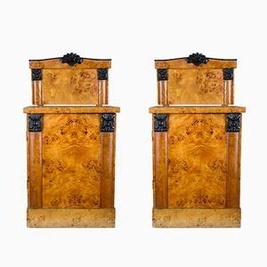 Tables de Chevet en Églantier, 1940s, Set de 2