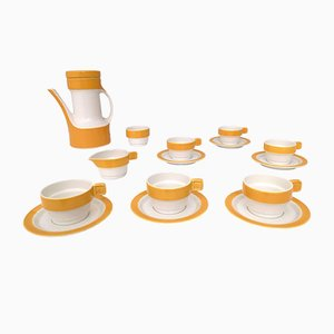 16-Piece Coffee Set by Riccardo Schweizer for Pagnossin Ceramica, 1970s