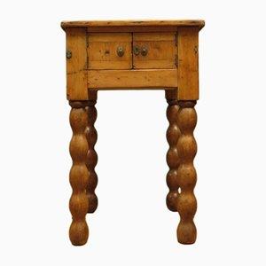 Antiker Vorbereitungstisch aus Pinienholz