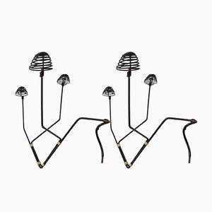 Rockabilly Wig Hangers, 1950s, Set of 2