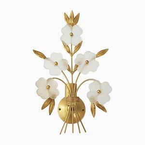 Lámpara de pared en forma de ramo de flores, años 70