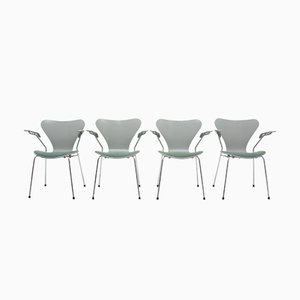 Model 7 Side Chairs by Arne Jacobsen for Fritz Hansen, 1980s, Set of 4