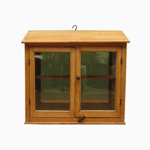 Antique Victorian Pine Hanging Cabinet