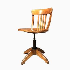 Sedia da ufficio vintage in faggio di Albert Stoll