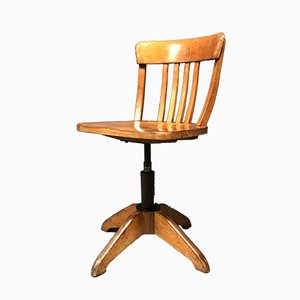Vintage Beech Office Chair by Albert Stoll