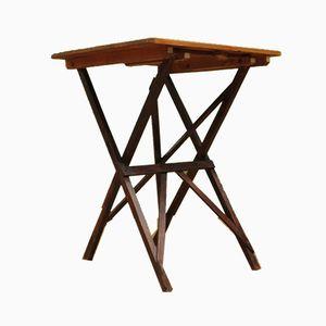 Tavolo pieghevole antico in pino di Cajac