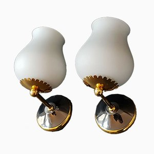 Mid-Century Wall Sconces, 1950s, Set of 2