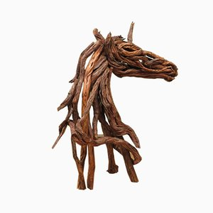 Vintage Driftwood Unicorn Sculpture by Richard Dawson Hewitt
