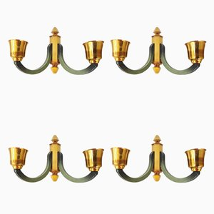 Mid-Century Wall Sconces, 1950s, Set of 4