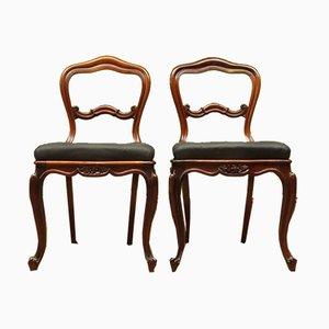 Antike Esszimmerstühle von J. Manuel, 2er Set