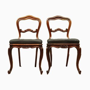 Antique Dining Chairs from J. Manuel, Set of 2