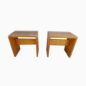 Mid-Century Stools by Charlotte Perriand, 1960s, Set of 2